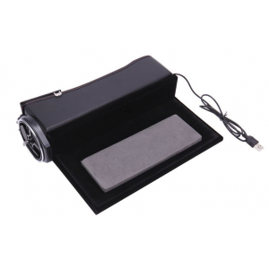 Car Seat Slot Storage Box Driver Side with Vintage Leather, Water Cup Holder, Coin Collector and USB Wire - Black