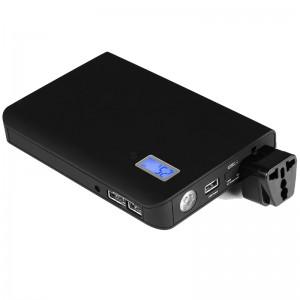 Portable Laptop AC Power Bank Black