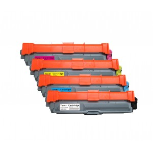 4 Pack BK/C/Y/M Combo Brother TN221/TN225 Toner Cartridge New Compatible
