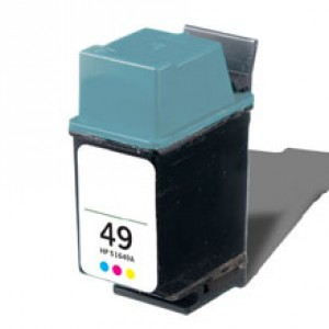 HP 49 (51649A) Ink Cartridge Tricolor  Remanufactured