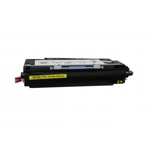 Hp Q2672A Toner Cartridge Yellow Remanufactured